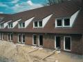 Foto Bau Reihenhäuser Gartenseite | KLICK = Foto vergrößern